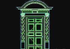 栏杆、柱子、雕花、门、装饰主题CAD图块素材-26