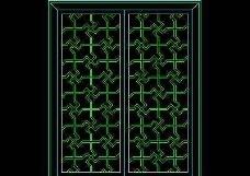 中式窗CAD图块素材15