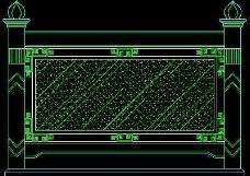 中式落地罩、中式隔断、活动式隔断、低隔断、高隔断CAD图块14