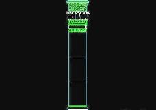 栏杆、柱子、雕花、门、装饰主题CAD图块素材-59