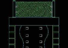 中式落地罩、中式隔断、活动式隔断、低隔断、高隔断CAD图块4
