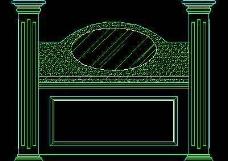中式落地罩、中式隔断、活动式隔断、低隔断、高隔断CAD图块6