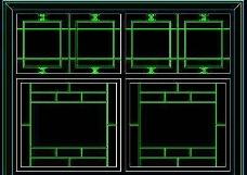 中式窗CAD图块素材3
