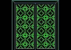中式窗CAD图块素材14
