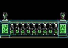 西式栏杆、现代式栏杆、铁艺栏杆CAD图块52