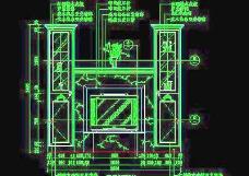 客厅装饰柜CAD详图素材68