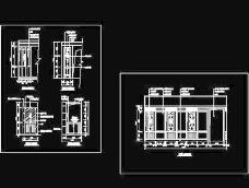 玄关,隔断装饰cad施工图17