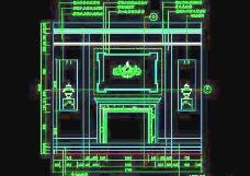 客厅装饰柜CAD详图素材74