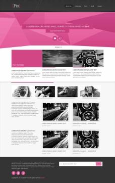 摄影师作品展HTML模板