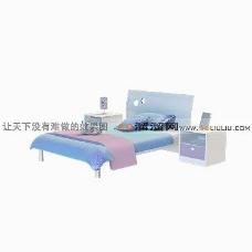 3D单人床模型