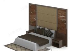 3D现代双人床模型