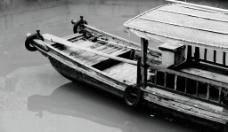 黑白摄影——船图片
