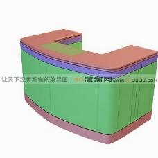 3D接待台模型