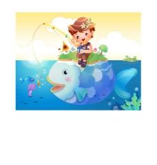钓鱼的男孩