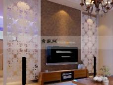 客厅的电视背景墙幕,背景墙,屏幕,W