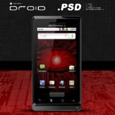 摩托罗拉的Droid的PSD文件