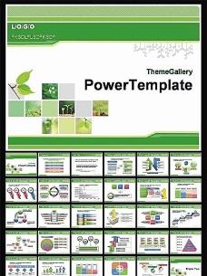 自然环保PPT模板