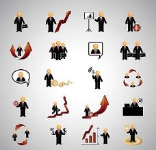 商务人物图标矢量素材