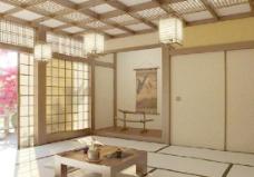 中式休息室模型