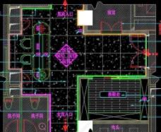 桑拿区 五层接待厅平面图