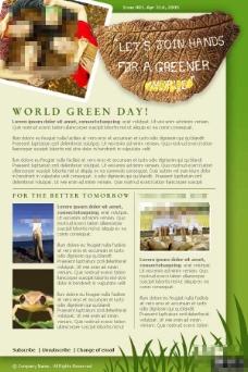 绿色环保公益邮件网页模板