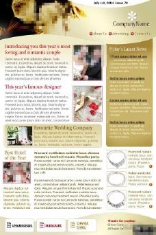 婚礼策划公司EDM网页模板