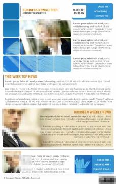 蓝色商务公司EDM网页模板