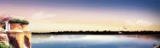 湖面小景图片
