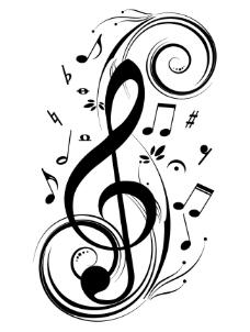 潮流音乐符号矢量图