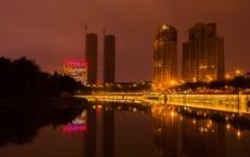 府南河夜景图片