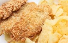 炸鸡柳 鸡翅 快餐图片