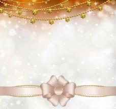 金色星星挂链背景矢量素材