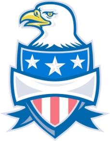美国的白头鹰盾牌