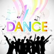 音乐舞蹈晚会背景海报或标语