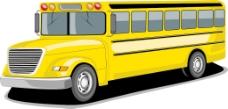侧视图的公共交通巴士的橙色和白色的颜色