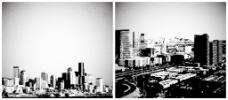 城市背景矢量素材