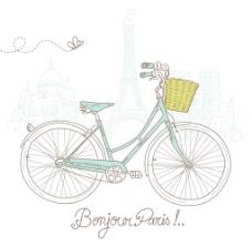 在风格上骑自行车