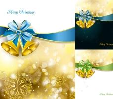 3款精美圣诞铃铛海报矢量素材