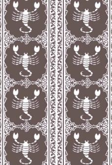 矢量蝎子图案