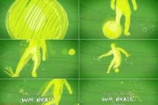 手绘巴西足球世界杯AE片头模板