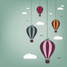 热气球与云