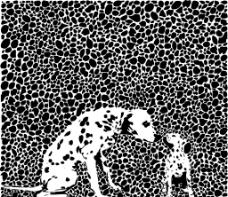 斑点小狗图案图片