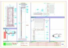 三层走廊立面cad建筑图纸