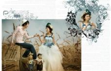 公主米哈依魅力婚纱摄影PSD素材