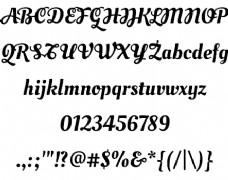 油脚本花式大写字体
