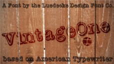 vintageone字体