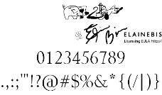 该取样器的字体