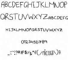 资本的有趣字体