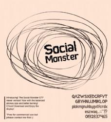 社会的怪物的字体