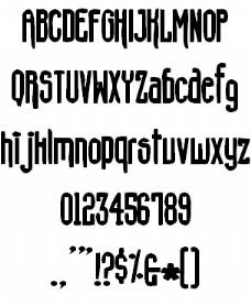 混凝土的鞋子的字体